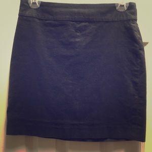 Charcoal corduroy mini skirt